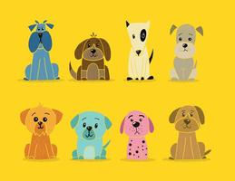 National Dog Week Dog Vectors