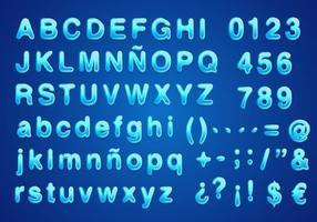 Water Lettertype Vector Gratis