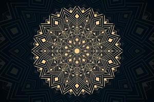 behang met gouden luxe mandala thema vector