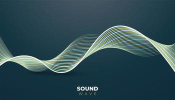 moderne achtergrond met geluidsgolflijnen vector