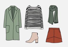 Vrouw Winterkleding vector