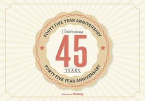 45e verjaardag illustratie vector