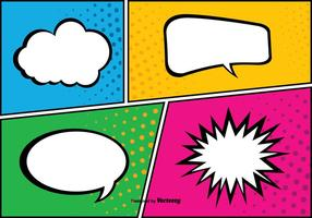 Comic Pop Art Style Achtergrond Illustratie vector