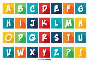 Kleurrijke Comic Style Alfabet Set