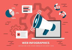 Gratis Flat Design Digitale Data Vector Illustratie Met Megafoon