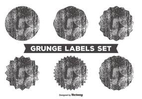 Rommelige grunge label set