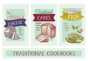 Gratis Diverse Thematische Kookboeken Vector Achtergrond