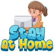 blijf en werk thuis om verspreiding van virussen te voorkomen