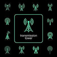 transmissie communicatie toren symboolset