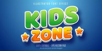 kinderen zone tekst