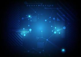 blauw abstract netwerktechnologieontwerp