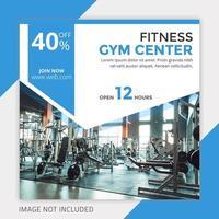 geometrische frame gym social media postsjabloon
