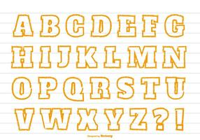 Leuk Oranje Stijl Alfabet vector