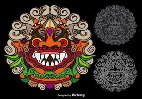 Vector Kleurrijke Mythologische Barong