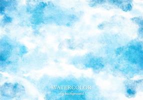 Gratis Vector Blauwe Waterverf Hemelachtergrond