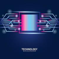 blauwe digitale toekomstige technische achtergrond vector