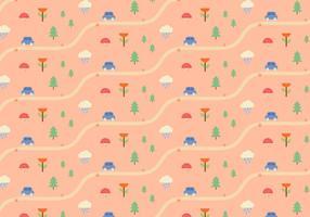 Natuur landschap patroon vector