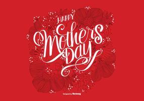 Hand getekende moederdagkaart vector
