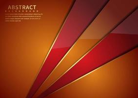 glanzend oranje en rode hoeken achtergrond vector