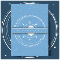 abstracte blauwe heelal achtergrond vector