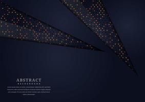 abstracte donkere uitgesneden papier vormen glitter achtergrond vector