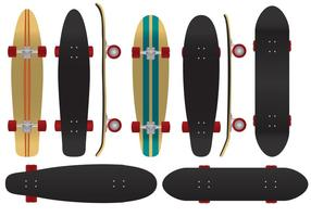 De Coolest Board To Play - Longboard Vectors