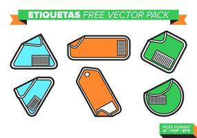 Etiquetas Gratis Vector Pakket