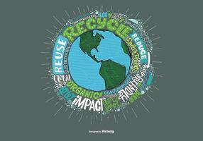 Milieu Aarde en Citaat Vector