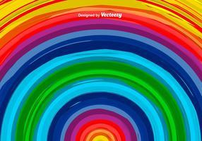 Vector Handgetekende Kleurrijke Regenboog