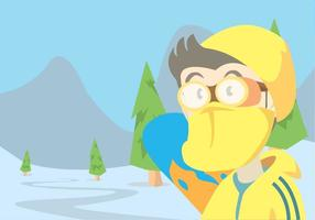 Everest Vector Landschap Met Snowboarder