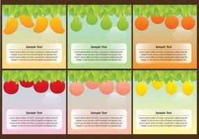 Fruit boom sjablonen vector