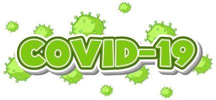 groene covid-19 tekst vector