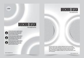 witte verloop cover brochure vector