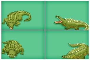achtergrond sjabloonontwerp krokodillen vector