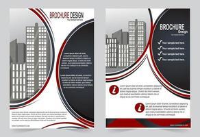 cirkel voorbladsjabloon ontwerp. vector