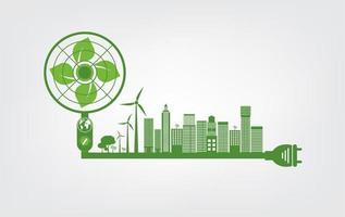 ecologie en milieuconcept vector