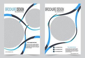 blauwe cirkel flyer cover ontwerp vector