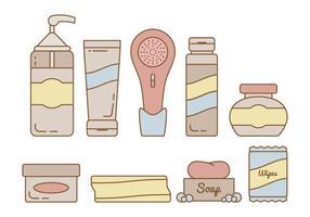 Vector huidverzorgingselementen