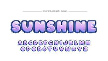 helder paars afgerond cartoon artistiek lettertype