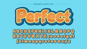 oranje en blauwe vette glanzende ans serif typografie