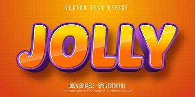 vrolijke tekst, 3d oranje en paars lettertype vector