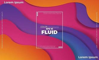 gelaagd kleurrijk golvend vormenontwerp met tekstvak