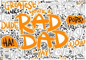Father's Day Hand Lettering Vector