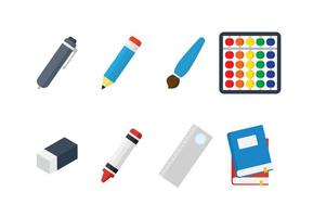 Kinder school spullen vector