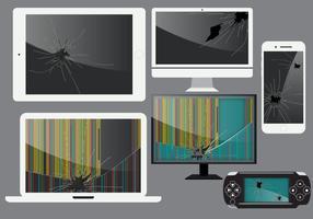 Gebroken gadget schermvectoren