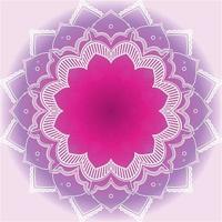 paars, roze mandalaontwerp met tekstruimte vector
