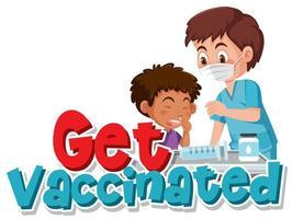 krijg gevaccineerd posterontwerp
