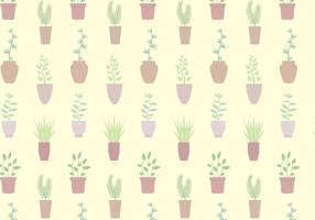 Gratis Potted Plant Pattern Vector