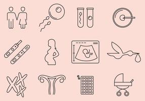 Zwangere Pictogrammen vector