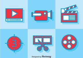 Videobewerking pictogrammen vector